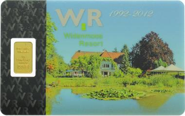 Goldbarren 1 Gramm Widenmoss Resort 1992-2012