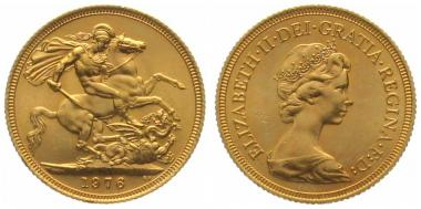 Grossbritannien Sovereign 1976