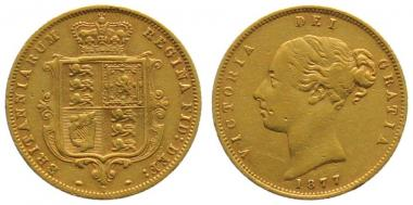 Grossbritannien 1/2 Sovereign 1877