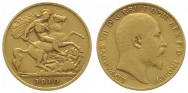 Grossbritannien 1/2 Sovereign 1910