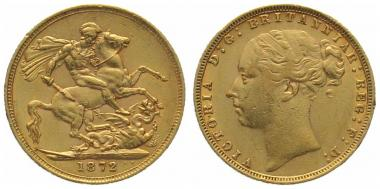 Grossbritannien Sovereign 1872