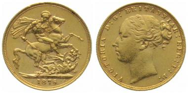 Grossbritannien Sovereign 1876